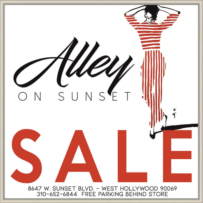 Alley on Sunset – Starting Now! Sale!